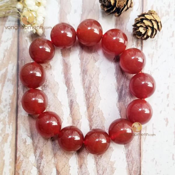 Vòng Tay Mã Não (Agate) Đỏ 16 ly