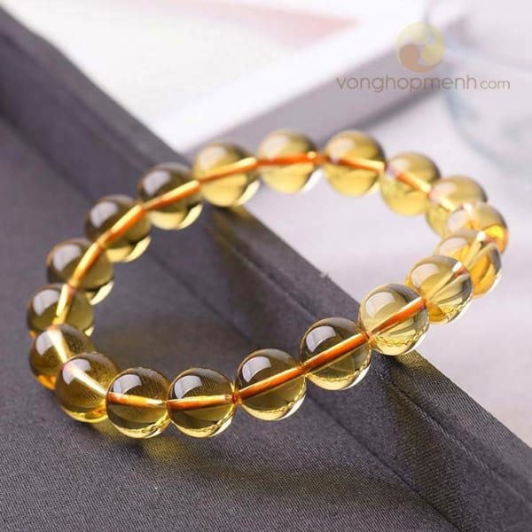 Vong thach anh vang Citrine 10 ly vong phong thuy