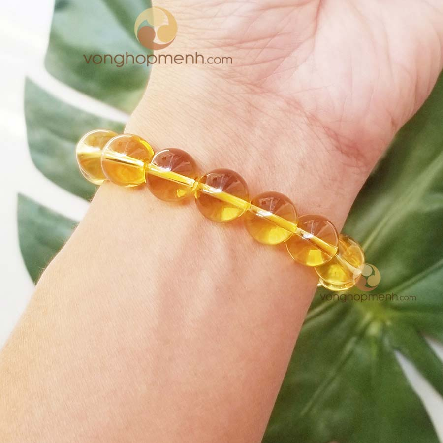 vong thach anh vang Citrine 12 ly - phong thuy